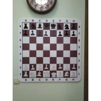 Доска демонстрационная шахматная в комплекте с фигурами